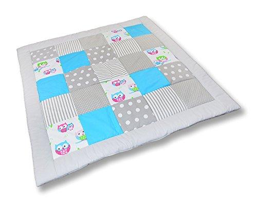 Krabbeldecke Patchworkdecke Spieldecke Decke (M029) (125x125 cm)
