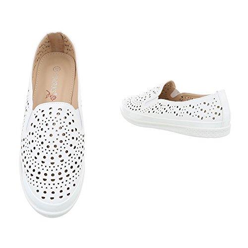 Pantofola Slitta Ital-design Pantofola Pantofola Traforata Bianca J269f