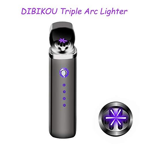Lichtbogen-Zigarettenanz&uumlnder USB Wiederaufladbar Flammenlos Winddicht Plasma Pfeifenanz&uumlnder mit USB-Kabel