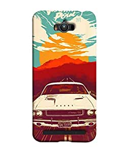 Snapdilla Designer Back Case Cover for Asus Zenfone Max ZC550KL :: Asus Zenfone Max ZC550KL 2016 :: Asus Zenfone Max ZC550KL 6A076IN (Abstract Travel Classic Shiny Chrome Antique Sun)