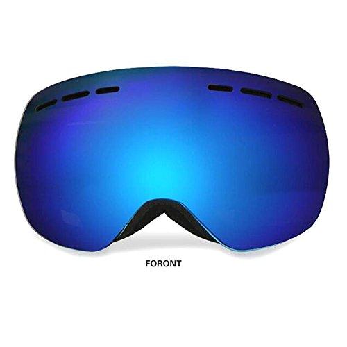JT Outdoor Skifahren Motorrad Gläser Anti Fog Gläser Nut Doppel Deck Brillenlinse Mode Atmungs Okular, blue, g12