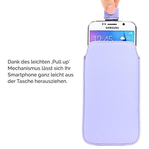 Original Urcover® Universal Schutzhülle [DEUTSCHER FACHHANDEL] Hülle Schale Pull Tab Etui Cover case Galaxy S7, S6, S6 Edge, iPhone 6 / 6s Grün Lila
