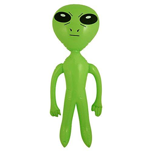 Henbrandt 2 x Inflable Verde Alien Sci-Fi 64 cm