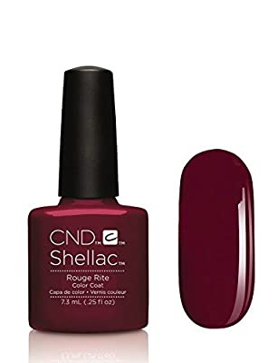 CND Shellac Contradicitons Collection - NEW for Autumn 2015 - UV Soak Off Gel Nail Polish/Varnish (Rouge Rite - 1 bottle)