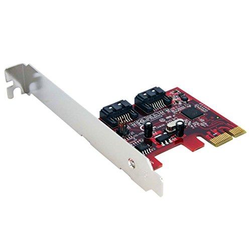 StarTech.com PCI Express Schnittstellenkarte SATA III - 2 Port PCIe Controller Card SATA3 - 1 x PCIe (Stecker) 2 x SATA (7pin) Anschluss