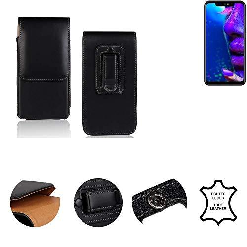 K-S-Trade® Gürtel Tasche Für Allview Soul X5 Pro Handy Hülle Gürteltasche Schutzhülle Handy Tasche Schutz Hülle Handytasche Seitentasche Vertikaltasche Etui, Leder Schwarz, 1x