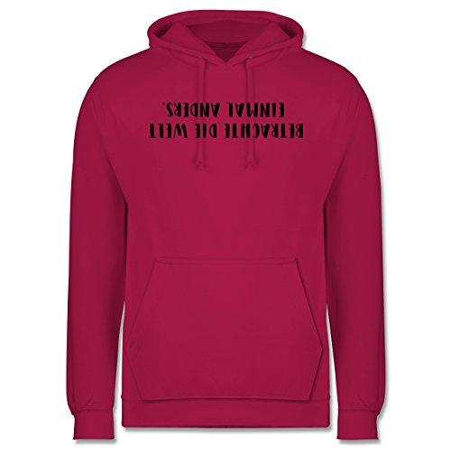 Statement Shirts - Betrachte die Welt einmal anders - Männer Premium Kapuzenpullover / Hoodie Fuchsia