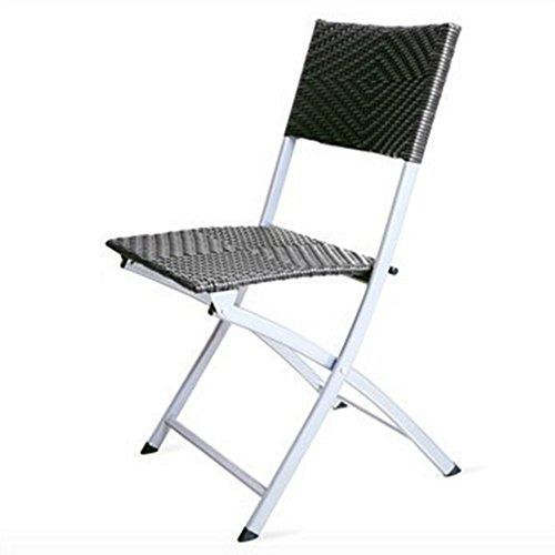 MAZHONG Tabourets Chaises pliantes fiables chaises d'ordinateur chaises portatives de bureau Chaire en plastique en rotin de loisirs extérieures (Couleur : A)
