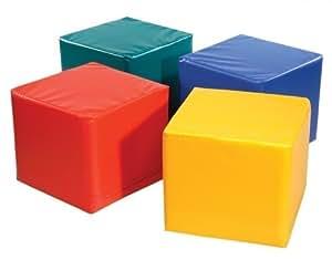 1 x Pänz Spiel- und Sitzwürfel 'rot' - Kantenlänge: 45 cm - Höhe: 50 cm