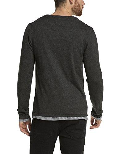 Scotch & Soda Herren Sweatshirt 15040860027 Grau (graphite melange 910)