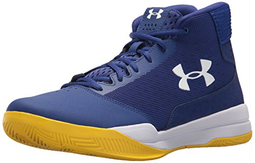 Under Armour UA Jet Mid, Chaussures de Basketball Homme, Bleu (Formation Blue), 41 EU