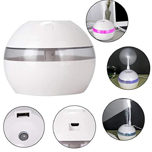 QUICKLYLY Humidificador Aromaterapia Difusor Aceites Esenciales Ultrasónico Pequeño Radiador Esencias Purificar Aire Humectador Aroma Difusor Led Aceite Esencial Interfaz USB