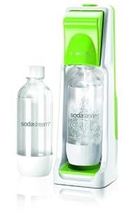 SodaStream Wassersprudler Cool  mit dem Sprudler Cool ohne schleppen aus Leitungswasser prickelndes Sprudelwasser machen! (mit 1 x CO2-Zylinder 60L und 2 x 1L PET-Flaschen), grün