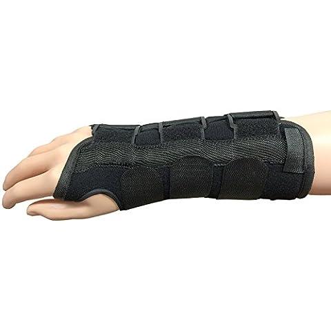 Supporto per il polso stecca con il pollice Inserire e 3 barre di metallo (superiore, inferiore e laterali) per tunnel carpale, Strain, distorsioni e artrite