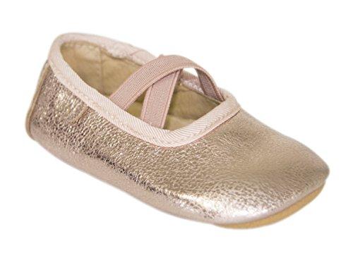 Move by Melton  Prewalker Ballerina w. elastic Mädchen, Ballerines filles Or - Gold (Cobber Glitter915)