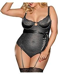 cfa0b90e5ca9 LHWY Sexy Biancheria Intima Giarrettiera Sexy Taglie Forti Con Set Intimo  Femminile Intimo Donna Intimo