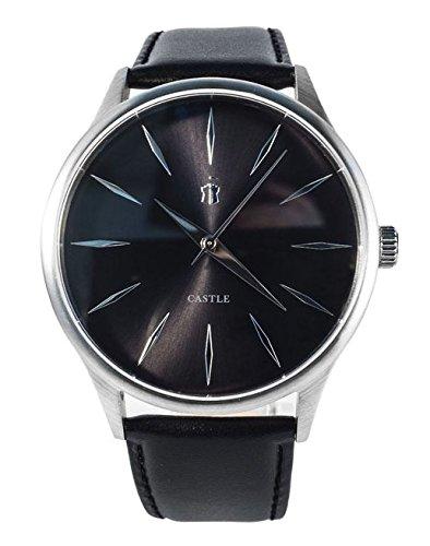 Castle Watch Herren Uhr Black/Black Leder Armband