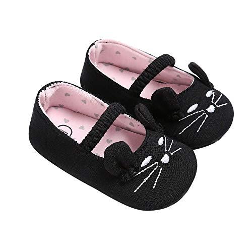 KonJin Baby Schuhe Kinderschuhe für Kinder Kleinkind Baby Mädchen Kinder niedlichen Cartoon Katze Leder einzelne Schuhe Prinzessin Schuhe 0-18 Monate
