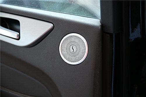 2innen Tür Aluminium Legierung Lautsprecher Verkleidung Zubehör Auto Styling Teile