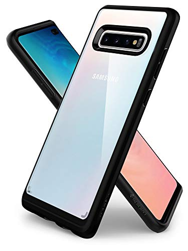 Spigen Ultra Hybrid, Cover Galaxy S10+, con Tecnologia Air Cushion e Protezione da Goccia Ibrida per Galaxy S10 Plus - Matte Black