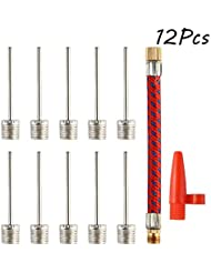 FEPITO Ball Pump Needles Inflation Valve Basketball Soccer Adaptor with Flexible Air Hose and Nozzle Valve Adapter Kit for Football, Basketball, Volleyball, Rugby Balls
