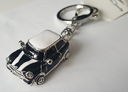 mini-style-car-keyring-gift-blue-red-rhinestone-detail-with-gold-coloured-trim-black1