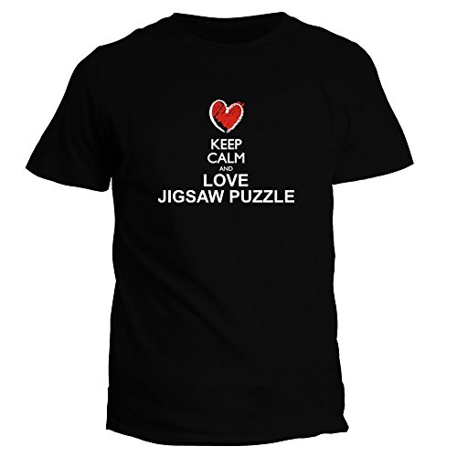 Idakoos Keep Calm and Love Jigsaw Puzzle Chalk Style - Ocio - Camiseta