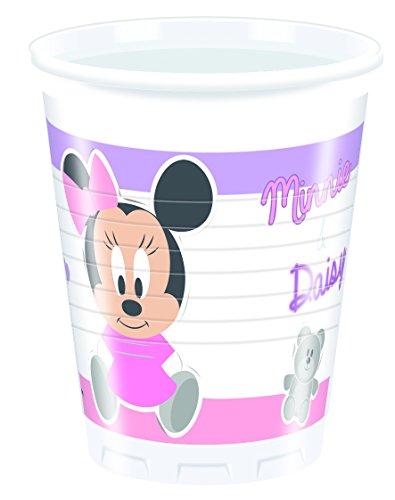 Ciao Procos 85567-Becher Kunststoff Baby Minnie & Daisy 200ml, 8Stück, Pink/Weiß (Minnie Mouse-kunststoff-cups)
