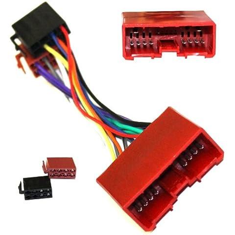 AERZETIX: Adaptador B9 con ISO cables enchufes para autoradio