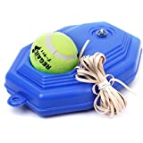 Newtrends Tennis Ball Trainer Set With Long Elastic Rubber Band Racquet Gym Sports Tennis Accessories For White Collars Youngster Blue