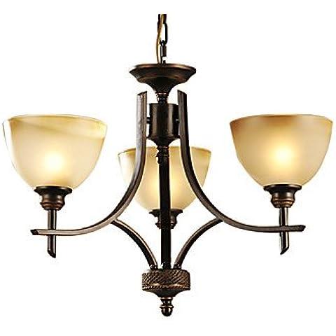 artes claras Lámpara Chandelier con 3 Bombillas - ETOWAH ( Voltage : 110-120V )