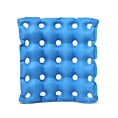 GLJY Luft-aufblasbares Sitzkissen Macht, medizinische Rad-Stuhl-Luftmatratze, Anti Bedsore verhindern Dekubitus-Schmerz,Blue,42 * 42CM -