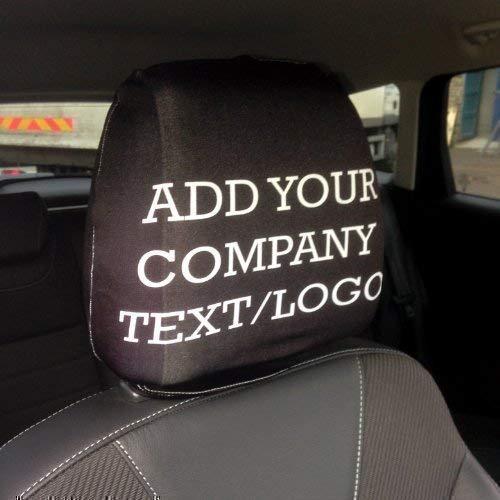 L&S PRINTS FOAM DESIGNS Individuell Head Rest für 2Pack jeden Logo/Namen hergestellt in Yorkshire (Multi-logo-print Über)