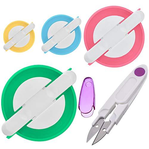 Kit de herramientas para hacer pompones, 4 tamaños diferentes, para hacer...