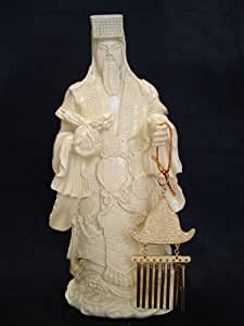 Feng Shui Carillon Import Jade empereur avec soleil et lune