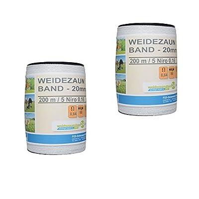 Weidezaun Band 20mm FGS Basis 2x200m 5x0,16 von FGS auf Du und dein Garten