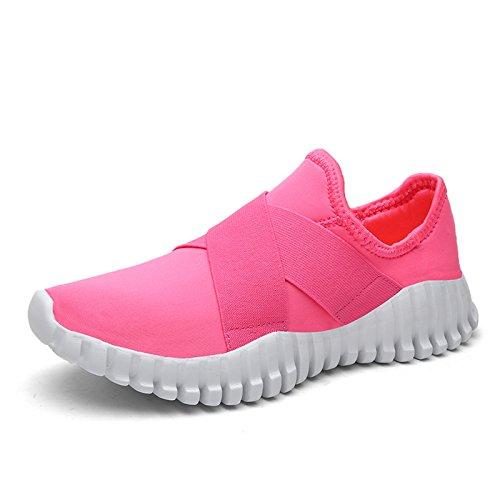 Qiucdz Walking Schuhe Männer und Frauen Leichte Mode Laufschuhe Casual Sport Schuhe (6.5US-Frau/Männer=EU/FR 38, Rosa) (Jungen End Schuhe Lands)