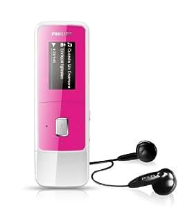 Philips SA3MXX04PA/02 Pink 4GB Portable MP3 Player