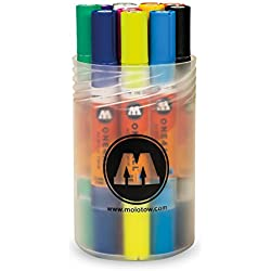 Molotow mo200480acrílico Marcador one4all Twin, bolígrafos Caja MAIN Kit de 1, 1.5mm/4mm, 12rotuladores