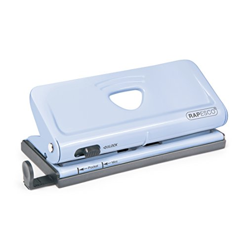 Rapesco Perforateur D'Agenda Ajustable 6 Trous - Bleu Pastel