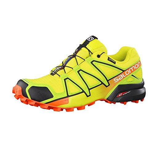 Salomon Speedcross 4 Gtx, Chaussures de Trail Homme, Rouge jaune vert