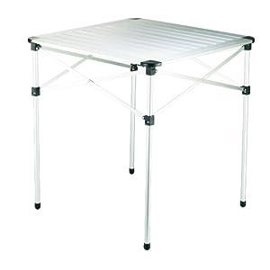 GRAND CANYON Table - Camping-Tisch, faltbar, Aluminium, 70 x 70 x 70 cm, silber, 308005