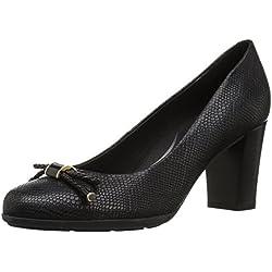 Geox D Annya A, Zapatos de Tacón para Mujer, (Black C9999), 40 EU