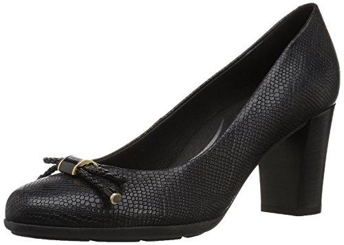 Geox D Annya A, Zapatos Tacón Mujer, Black C9999