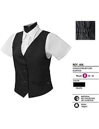 Misemiya ® Uniforme Camarera Chaleco Mujer con Elástico - Ref.806