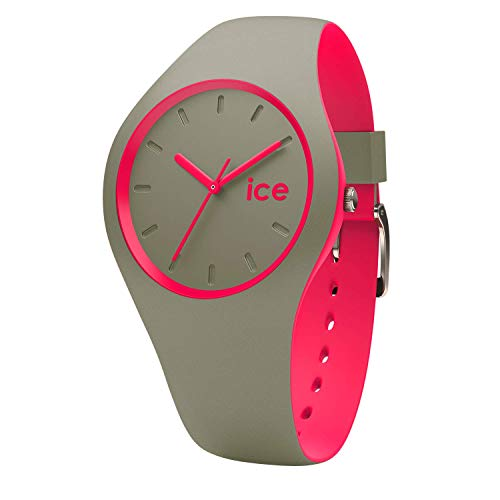 Ice-Watch - ICE duo Khaki Pink - Women's wristwatch with silicon strap - 001497 (Medium)