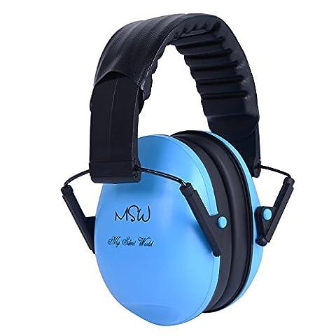 Ear Defender Ear Muffs Réglage De Bruit Réglable Écouteurs Pour Dormir Étudier Construction Shooting Forage De Chasse Sciage Soudage Racing, Bleu