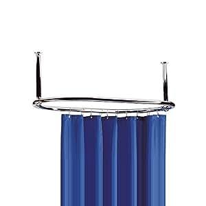 Ultra la386 bague de douche rond sans rideau chrome for Rideau de douche rond