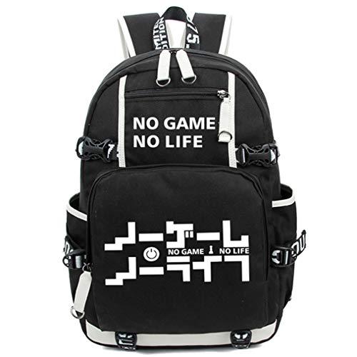 Cosstars No Game No Life Leuchtend Anime Rucksack Schulrucksack Backpack Schultasche