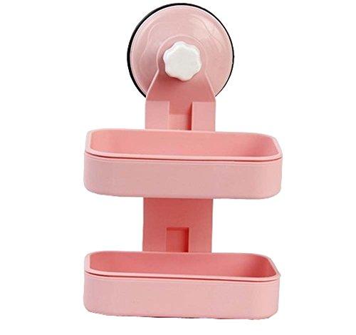 Ensemble de boîte de savon créatif séparable double couche Dumping-Pink